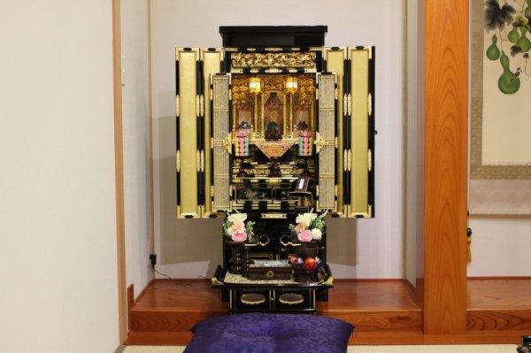 画像1: 金仏壇【紬 -つむぎ-】15号(仏具付)✿国産 (1)